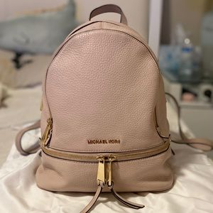 Michael Kors Blush Pink Rhea Medium Backpack